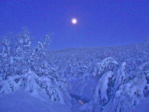 Lapland is famous for its blue Lapland light