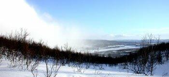 Lapland snow flurry