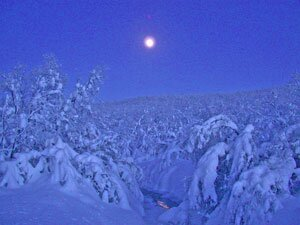 Lapland is famous for its blue Lapland light